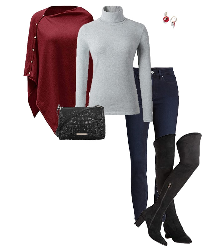 Thigh high boots and jeans | 40plusstyle.com
