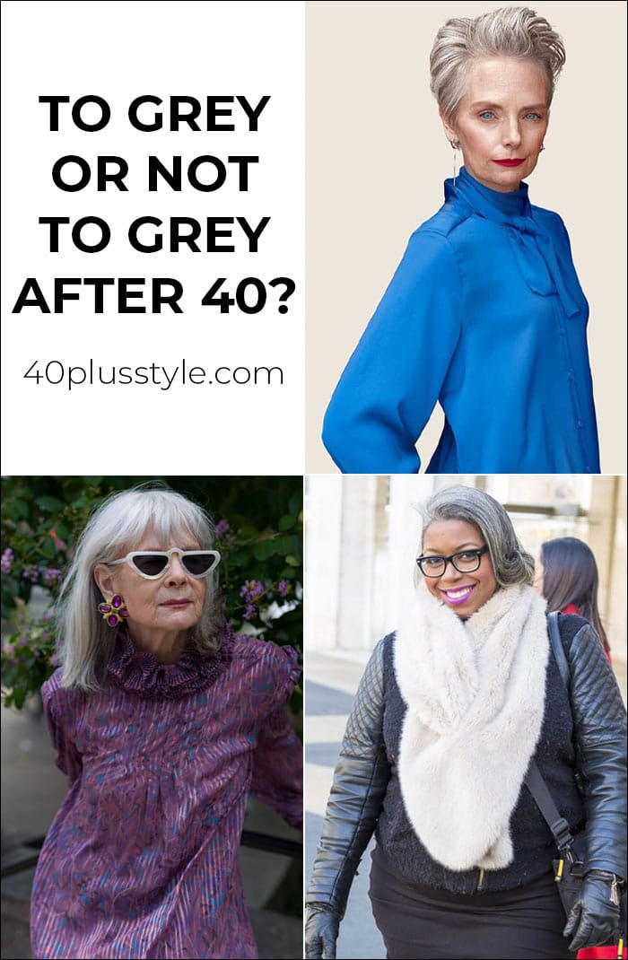 To grey or not grey hair after 40 | 40plusstyle.com