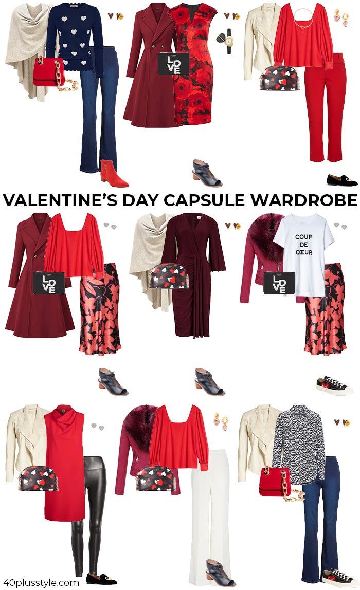 Valentine's Day capsule wardrobe   40plusstyle.com