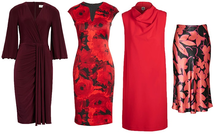 how to dress for Valentine's day - dresses and skirts   40plusstyle.com