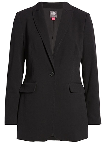Vince Camuto notched collar blazer   40plusstyle.com