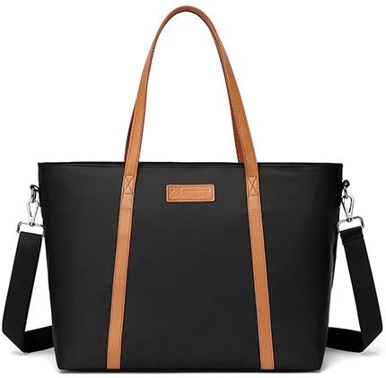 MOSISO PU Leather laptop bag | 40plusstyle.com