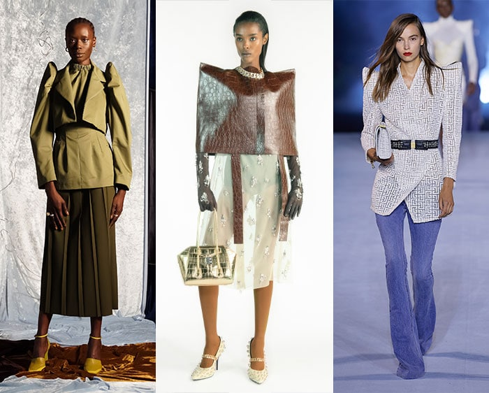 Shoulder pads are back on trend | 40plusstyle.com