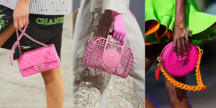 Bubblegum pink bags | 40plusstyle.com