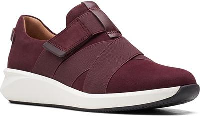 Best sneakers for plantar fasciitis - Clarks Un Rio Strap Wedge Sneaker   40plusstyle.com
