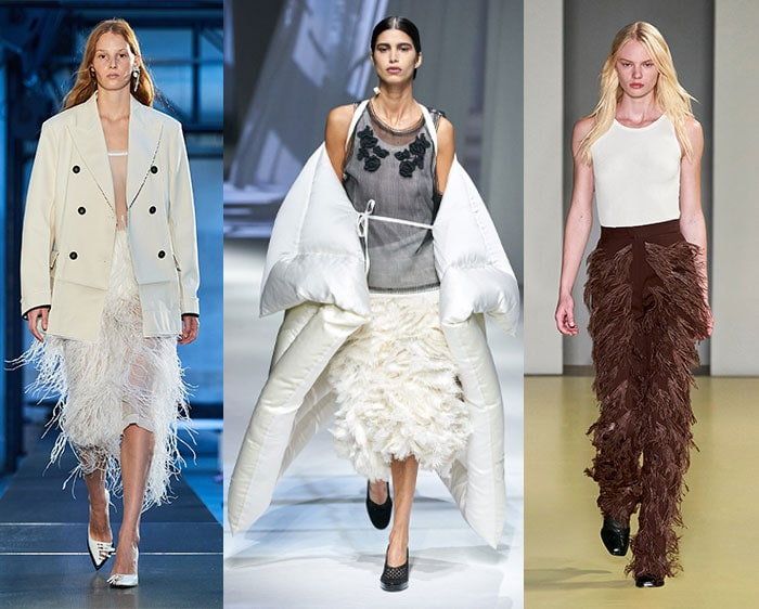Feathers on the fashion runways | 40plusstyle.com