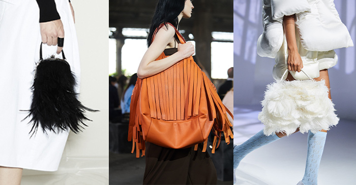 Feather bags | 40plusstyle.com