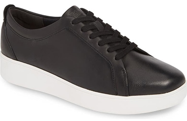 Best sneakers for plantar fasciitis - FitFlop Rally Sneaker   40plusstyle.com