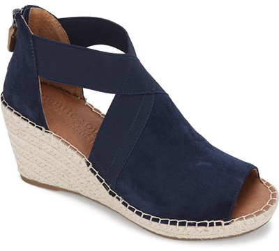 Shoes with arch support - Gentle Souls Signture Colleen Wedge Sandal | 40plusstyle.com