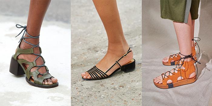 Shoe trends 2021 - Greek sandals   40plusstyle.com