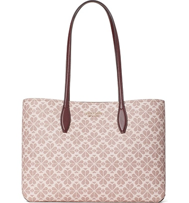 Kate Spade New York All Day Spade Flower Coated Canvas Tote | 40plusstyle.com