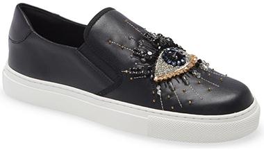 Best sneakers for plantar fasciitis - Kurt Geiger London Eye Slip-On Sneaker   40plusstyle.com