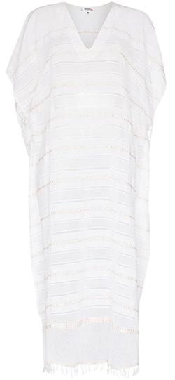 lemlem Kelali Stripe Pattern Kaftan Dress   40plusstyle.com