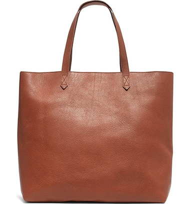 Madewell Zip Top Transport Leather Tote | 40plusstyle.com