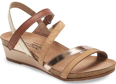 Naot Hero Strappy Wedge Sandal | 40plusstyle.com