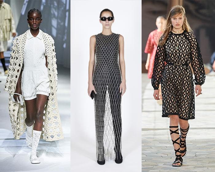 Net styles on the catwalks | 40plusstyle.com