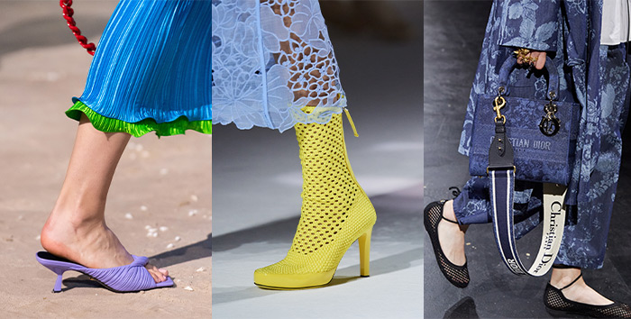 Netted and knotted shoes in the 2021 fashion shows   40plusstyle.com