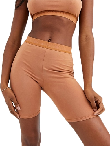 Nubian Skin Cocoa by NS legging shorts   40plusstyle.com