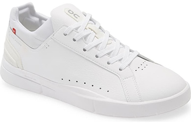 The best sneakers for plantar fasciitis - On THE ROGER Advantage Tennis Sneaker   40plusstyle.com
