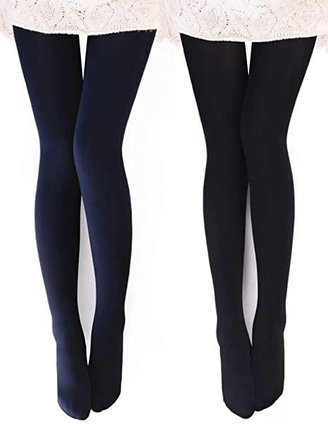 VERO MONTE opaque warm fleece lined tights | 40plusstyle.com