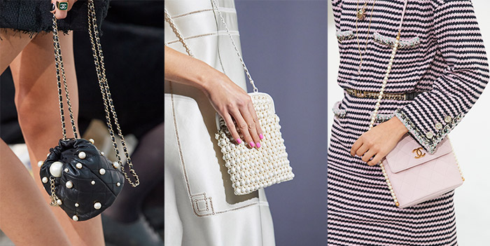Pearl embellished bags | 40plusstyle.com