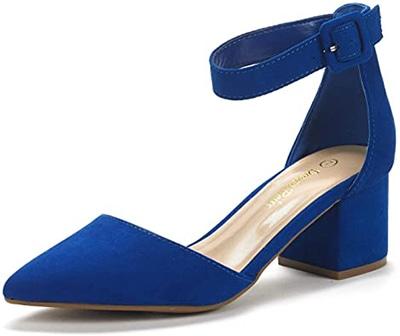 DREAM PAIRS Low Heel Pumps | 40plusstyle.com