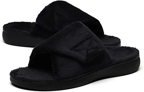 SOLLBEAM fuzzy slippers | 40plusstyle.com