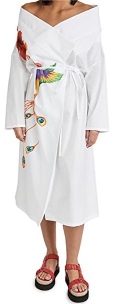 Diane Von Furstenberg Michelle Silk Crepe De Chine Midi Dress   40plusstyle.com