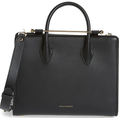 Strathberry Midi Calfskin Leather Tote | 40plusstyle.com
