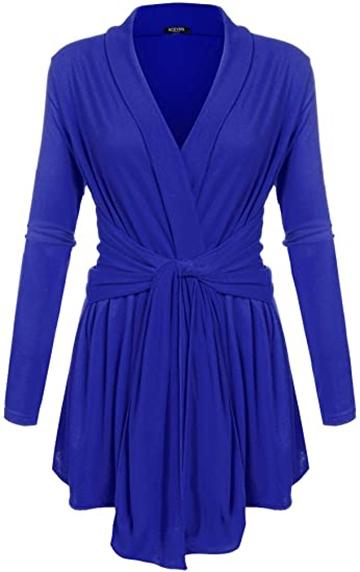 ACEVOG drape cardigan | 40plusstyle.com