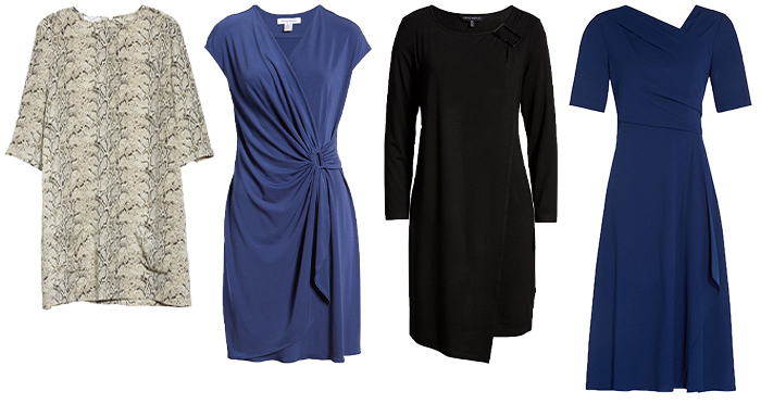 Dresses for the apple shape body | 40plusstyle.com