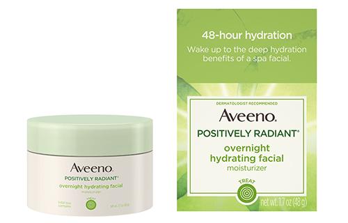 Aveeno Positively Radiant Overnight Moisturizer | 40plusstyle.com