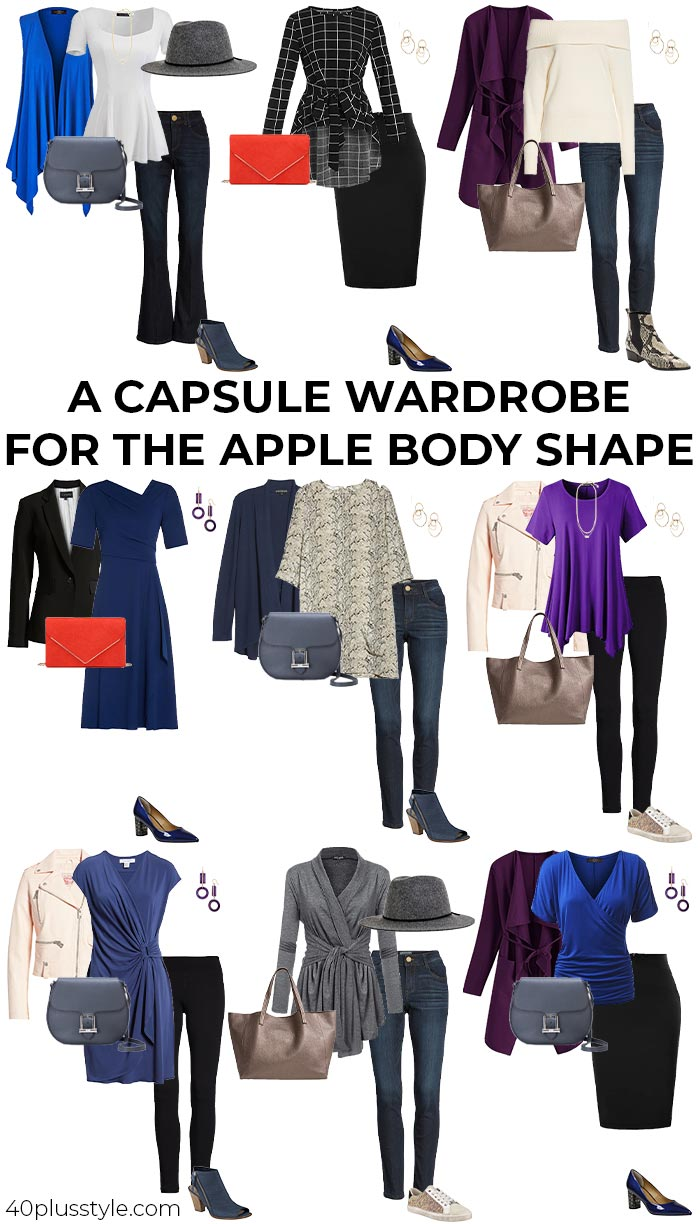 A capsule wardrobe for the apple body shape   40plusstyle.com