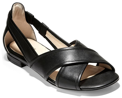 Plantar fasciitis shoes for women - Cole Haan Modern Classics Lewis Flat | 40plusstyle.com