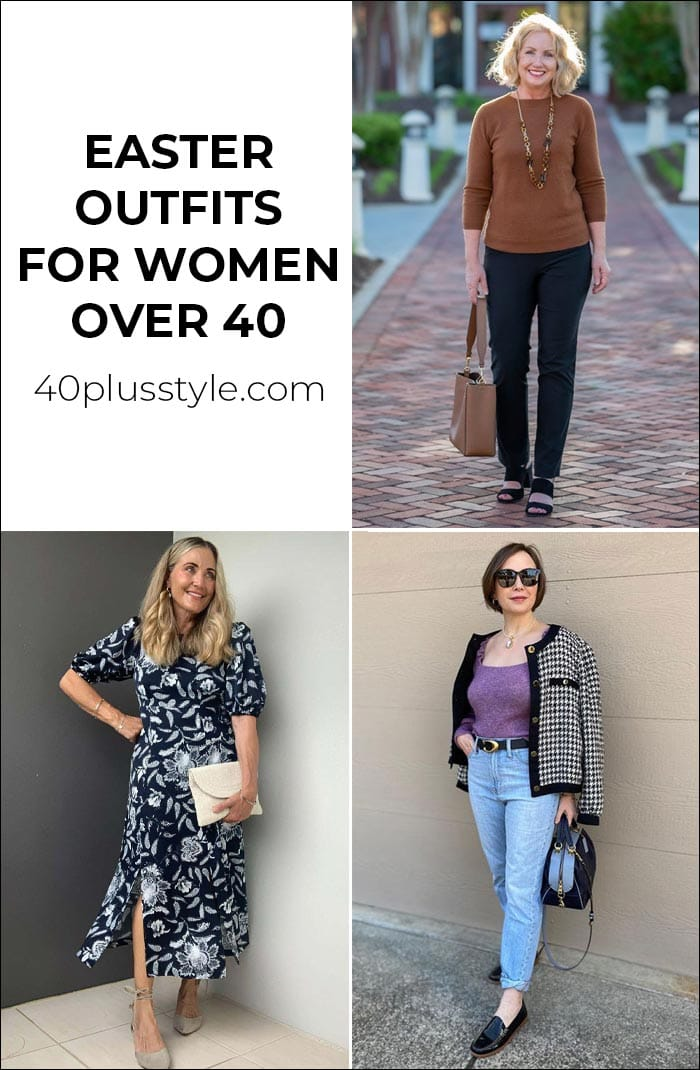 Easter outfits you will love - no matter how you are spending your Easter weekend | 40plusstyle.com