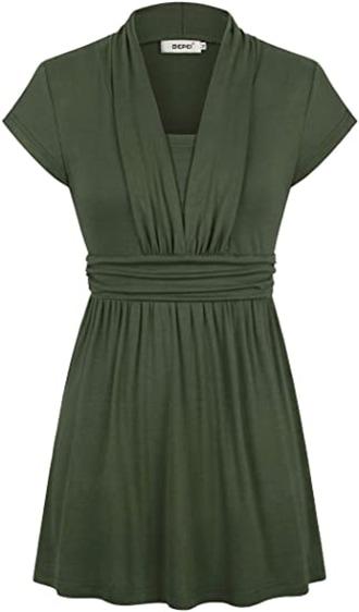 BEPEI empire waist tunic top | 40plusstyle.com
