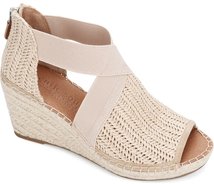 Plantar fasciitis shoes - Gentle Souls Signature Colleen Wedge Sandal | 40plusstyle.com