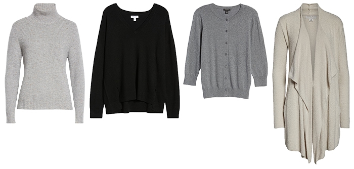 How to dress like Jennifer Aniston: sweaters and cardigans | 40plusstyle.com