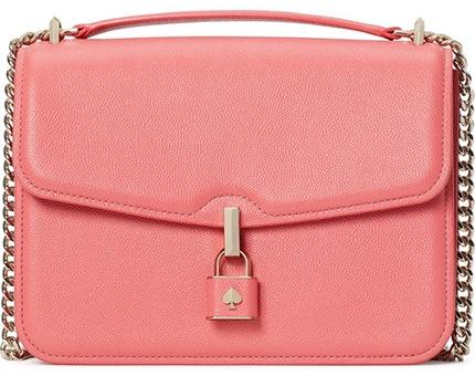 Kate Spade New York Locket Leather Flap Crossbody Bag   40plusstyle.com