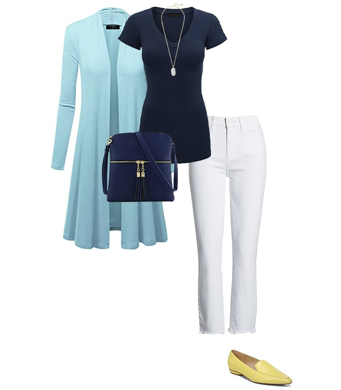 Long cardigan outfit | 40plusstyle.com
