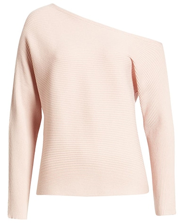 Tops to hide your tummy - Treasure & Bond one-shoulder pullover | 40plusstyle.com