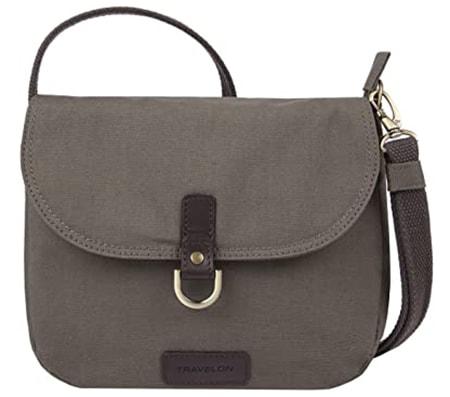 Travelon Anti-Theft Courier Saddle Crossbody Bag   40plusstyle.com