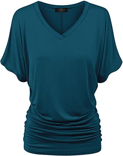 Made by Johnny V-neck dolman top | 40plusstyle.com