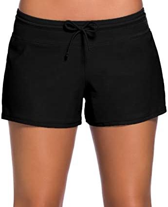 Aleumdr Waistband Bottom Boy Shorts | 40plusstyle.cm