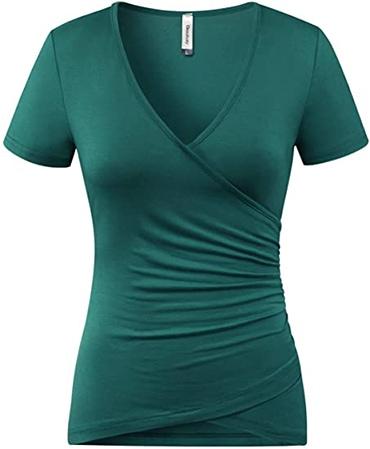 Beauhuty deep V-neck slim top | 40plusstyle.com