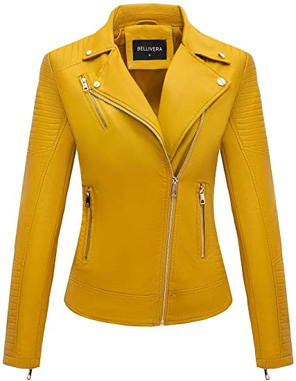 Bellivera faux leather moto jacket | 40plusstyle.com