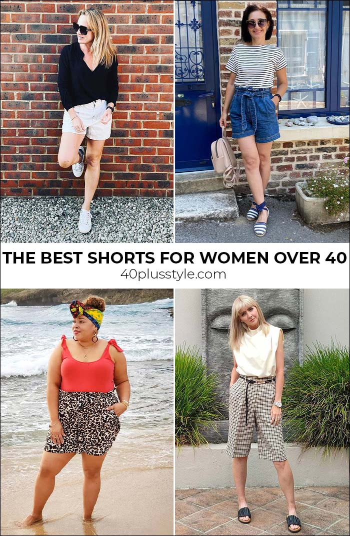 The best shorts for women over 40 - shorts that fit and flatter women over 40 of any shape | 40plusstyle.com