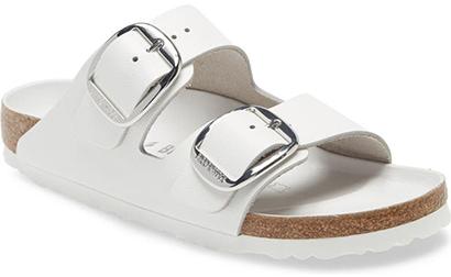 Best women's sandals - Birkenstock Arizona Hex Slide Sandal   40plusstyle.com