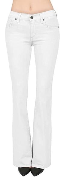 Hybrid & Company slim bootcut jeans  | 40plusstyle.com