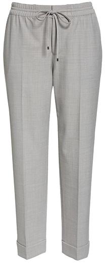 Pants to hide a belly - Club Monaco tie waist pants | 40plusstyle.com